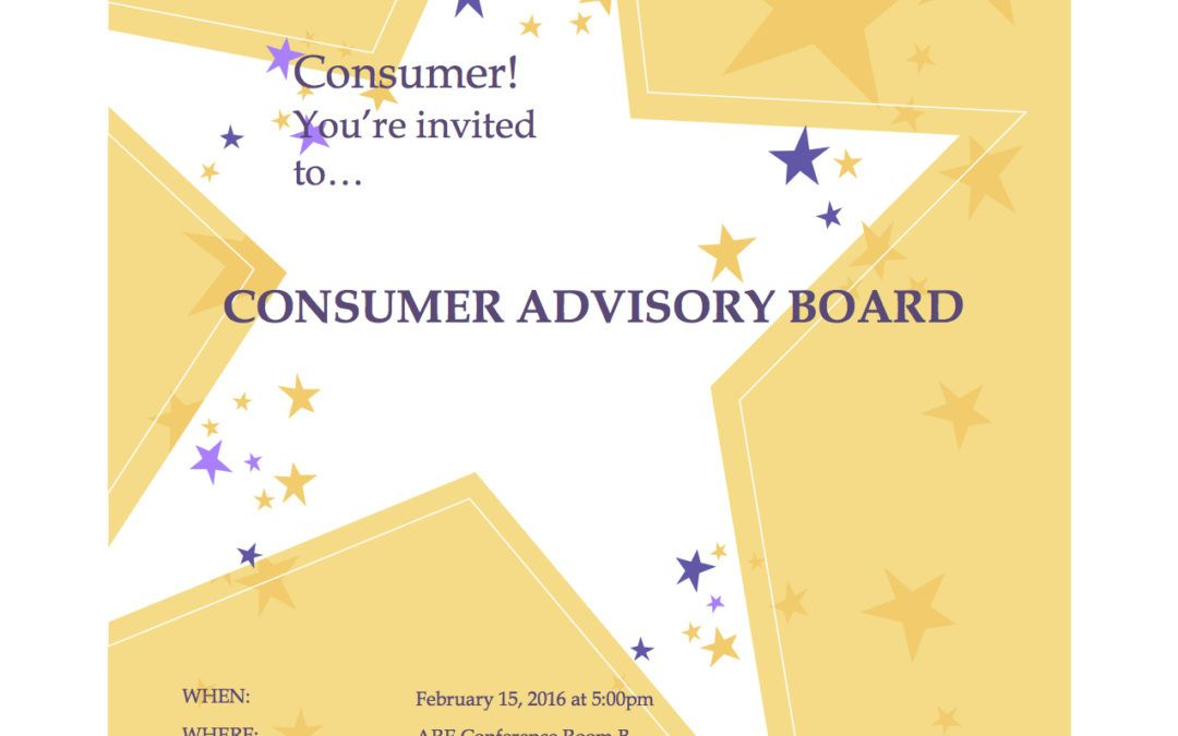 Consumer Advisory Board Meetings at ARE