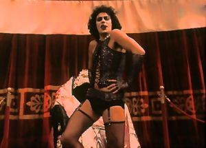 Tim Curry in a still from the Rocky Horror Picture Show film